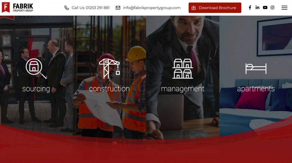 Fabrik website built by Digitiv.