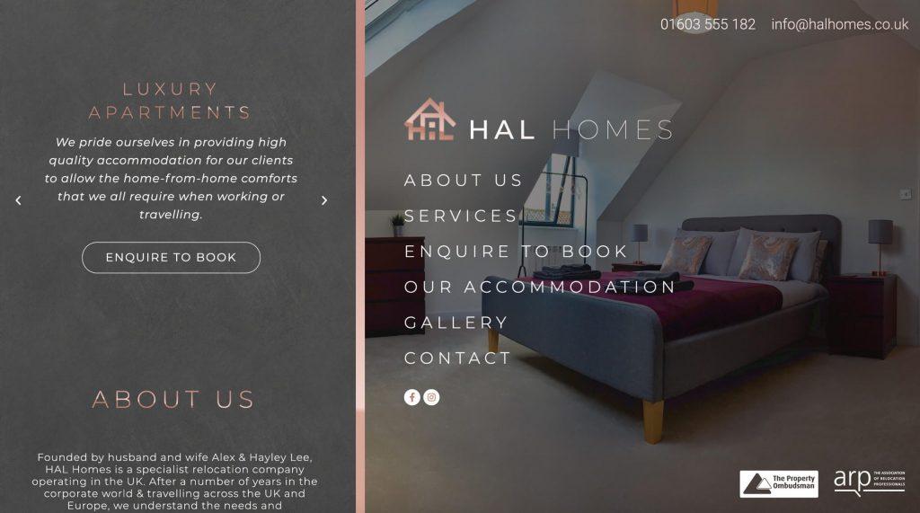Hal Homes website.